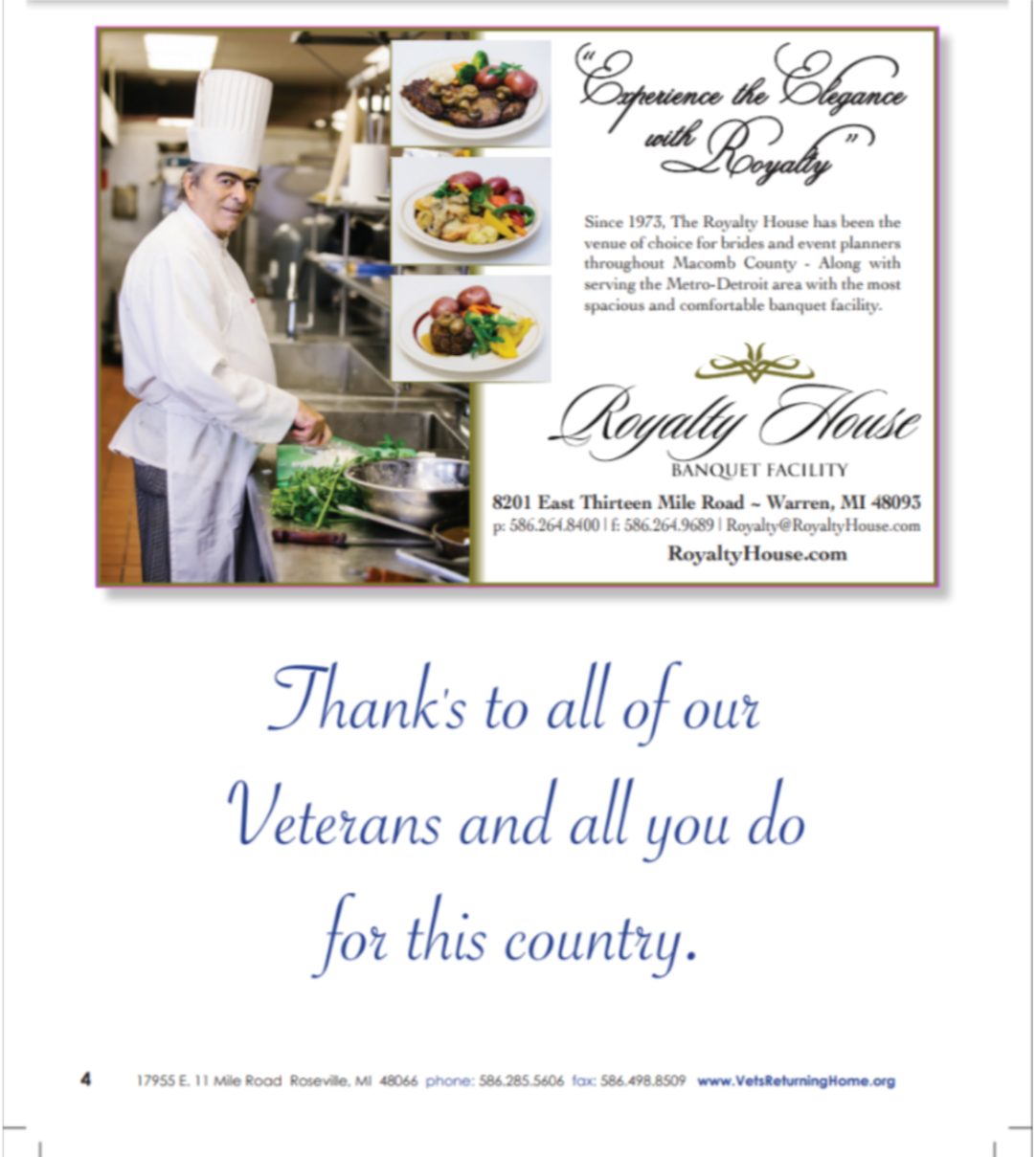 2019 VRH Fundraiser Dinner Full Page AD